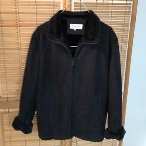 Calvin Klein Black faux suede jacket barely worn